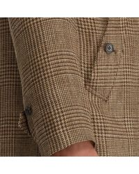 Polo Ralph Lauren - Brown Glen Plaid Balmacaan Topcoat for Men - Lyst