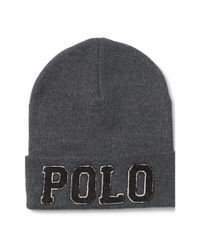 "Polo Ralph Lauren | Gray ""Polo"" Cotton Hat for Men | Lyst"