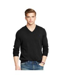 Polo Ralph Lauren | Black Wool V-neck Sweater for Men | Lyst