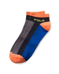 Ralph Lauren - Gray Low-profile Sport Socks for Men - Lyst