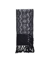 Pink Pony - Black Metallic Thread Scarf - Lyst
