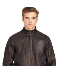 Polo Ralph Lauren - Black Leather Full-zip Jacket for Men - Lyst