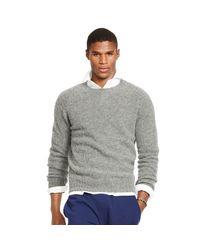 Polo Ralph Lauren - Gray Shetland Wool-cashmere Sweater for Men - Lyst