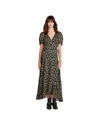 Denim & Supply Ralph Lauren | Multicolor Floral-print Gauze Wrap Dress | Lyst