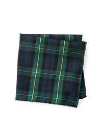 Polo Ralph Lauren | Green Tartan Pocket Square for Men | Lyst