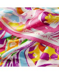 Ralph Lauren | Pink Sicily Paisley Silk Scarf | Lyst