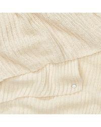 Ralph Lauren - Natural Metallic Linear Ribbed Scarf - Lyst