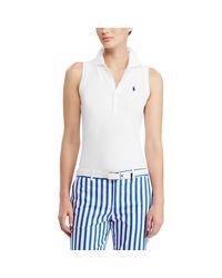 Ralph Lauren Golf - White Slim Fit Sleeveless Polo - Lyst