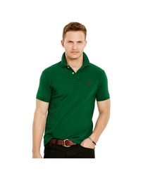 Polo Ralph Lauren - Green Classic-fit Mesh Polo Shirt for Men - Lyst