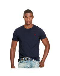 Polo Ralph Lauren | Blue Custom-fit Jersey Tee for Men | Lyst