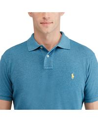 Polo Ralph Lauren - Blue Custom-fit Mesh Polo Shirt for Men - Lyst