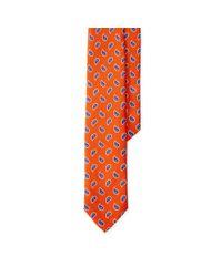 Polo Ralph Lauren - Orange Neat Linen Tie for Men - Lyst