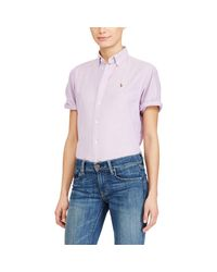 Polo Ralph Lauren | Purple Relaxed-fit Oxford Shirt | Lyst