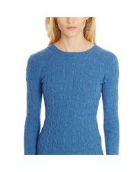Polo Ralph Lauren - Purple Slim Cable Cashmere Sweater - Lyst