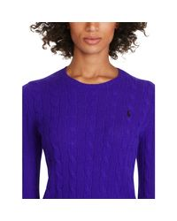 Polo Ralph Lauren - Purple Wool Crewneck Sweater - Lyst