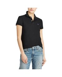 Polo Ralph Lauren - Black Classic Fit Mesh Polo Shirt - Lyst