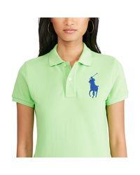 Polo Ralph Lauren | Green Skinny Fit Big Pony Polo Shirt | Lyst