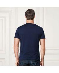 Ralph Lauren Purple Label | Blue Cotton Lisle T-shirt for Men | Lyst