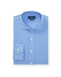 Polo Ralph Lauren - Blue Slim Fit Plaid Poplin Shirt for Men - Lyst