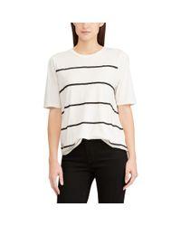 Ralph Lauren - Natural Striped Jersey Top - Lyst