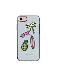 Rebecca Minkoff | Blue Denim Patch Case For Iphone 7 | Lyst