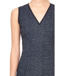 Rebecca Taylor - Blue Rose Stretch Jacquard Dress - Lyst