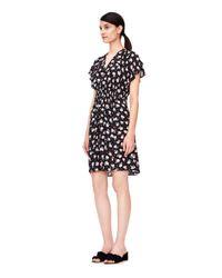 Rebecca Taylor - Black Rosalie V-neck Dress - Lyst