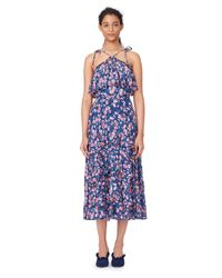 Rebecca Taylor - Blue Tea Rose Ruffle Skirt - Lyst