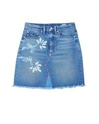 Rebecca Taylor - Blue La Vie Floral Patched Skirt - Lyst