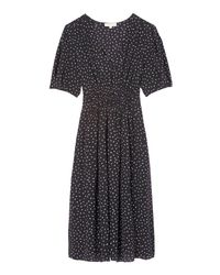 Rebecca Taylor - Black Hummingbird Print Silk Dress - Lyst