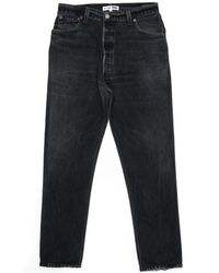Re/done   Black High Rise Ankle Crop Ass Rip for Men   Lyst