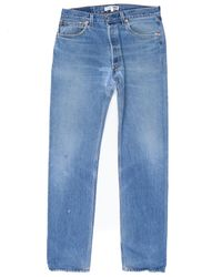 Re/done - Blue Relaxed Taper for Men - Lyst