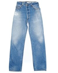 Re/done | Blue Ultra High Rise for Men | Lyst