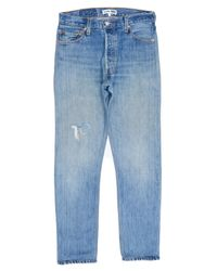 Re/done - Blue Straight Skinny for Men - Lyst