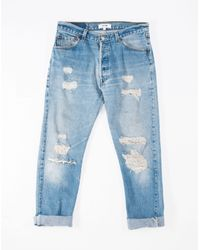 Re/done - Blue Relaxed Straight - Lyst