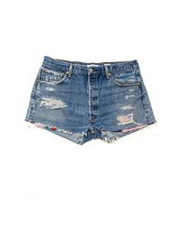 Re/done - Blue The Hawaiian Short - Lyst