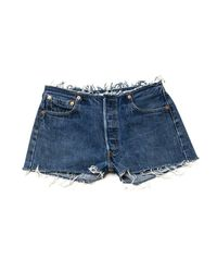 Re/done - Blue No Waist Short - Lyst