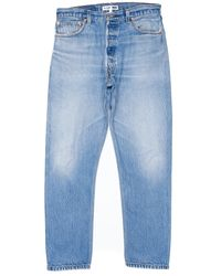 Re/done - Blue High Rise Ass Rip for Men - Lyst