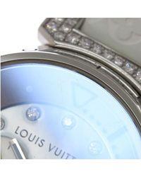 Louis Vuitton - White Tambour Automatic Diamond Blue Shell Dial Q1330 90028366.. - Lyst