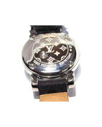 Louis Vuitton - Gray Tambour Bijou Noir Ladies Watch Quartz Monogram Belt Douceur Q151k - Lyst