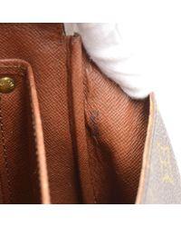 Louis Vuitton - Brown Vintage Cartouchiere Mm Monogram Canvas Shoulder Bag - Lyst