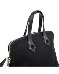 Hermès - Bag In Black Canvas And Leather - Lyst