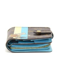 Louis Vuitton - Compact Zip Groom Blue Monogram Canvas Wallet - Lyst