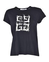 Givenchy - Black 4g Flame T-shirt - Lyst