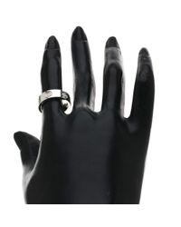 Cartier - Metallic 18k White Gold Ring Love Ring Full Diamond - Lyst
