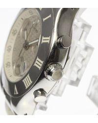 Cartier - Metallic Kuronosukafu W10184u2 Qz Rubber Belt Mens Pre-owned 180316 for Men - Lyst