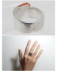 Hermès - Orange Sv925 Silver Candy Ring - Lyst