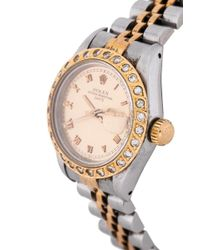 Rolex - Metallic Pre-owned Oyster Perpetual Date - Lyst