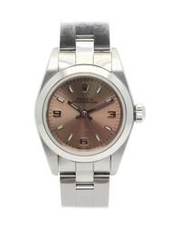Rolex - Metallic Oyster Perpetual Watch Stainless Steel Automatic Pink 76080 - Lyst