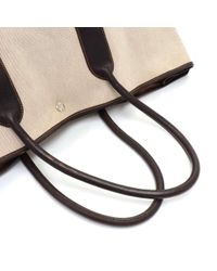 Louis Vuitton - Natural Hermes Garden Party Gm Chocolate Brown Leather Beige Canvas Hand Bag - Lyst